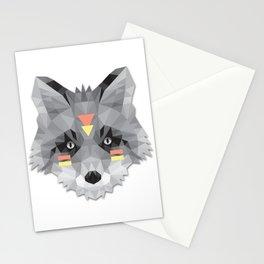 Boho poly fox Stationery Cards