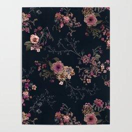 Japanese Boho Floral Poster