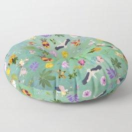 Flamingo Pineapple Pot Floor Pillow