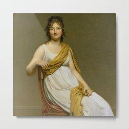 """Jacques-Louis David """"Henriette Verninac, born Henriette Delacroix, Eugene Delacroix sister"""" Metal Print"""