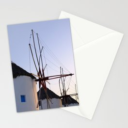 Famous Mykonos Windmills in Greece Stationery Cards
