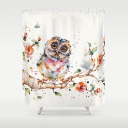 Yep, Cute Is My Middle Name (Owl) Shower Curtain