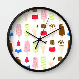 Classic Summer Ice-Creams Wall Clock