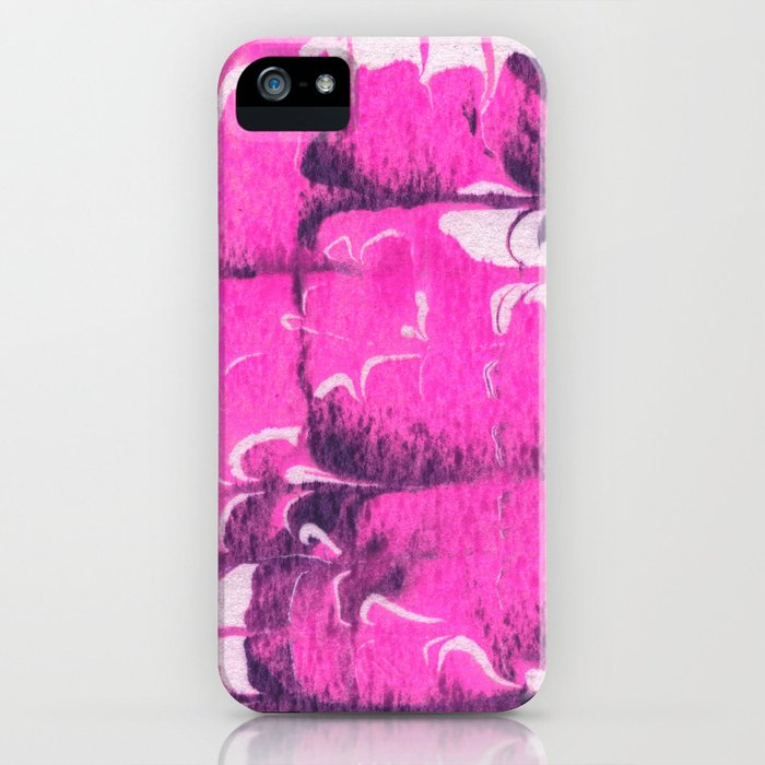 marble tie dye: bright pink iPhone Case