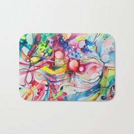Nice Clowns You Got There - Watercolor Painting Bath Mat