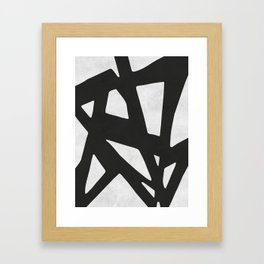 Black Expressionism IV Framed Art Print