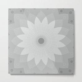 Tapestry grey mandala  #society6 #decor #buyart #artprint Metal Print