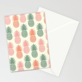Pineapple hand drawn on old paper texture. Tropical Vintage illustration pattern. Stationery Cards