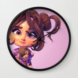 3D CHARACTER LITTLE MARY Wall Clock