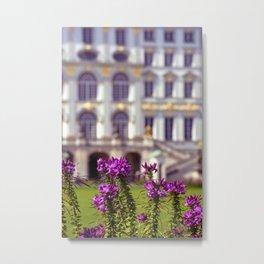 Flowers of castle Nympfenburg Metal Print