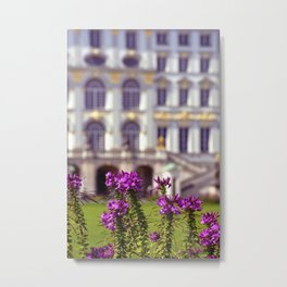 Flowers of castle Nympfenburg Metal Print