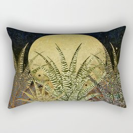 """Golden aloe Zebra midnight sun"" Rectangular Pillow"