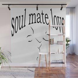 Soul mate love Wall Mural