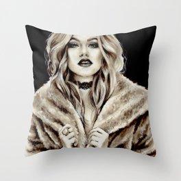 Queen Mia Throw Pillow