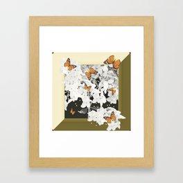 Hydrangea And Butterflies in Frame #decor #society6 Framed Art Print