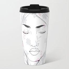 Lady in flowers Travel Mug