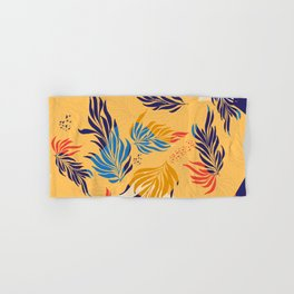 Primary Colors Leaves Hand & Bath Towel