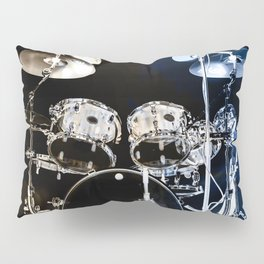DRUMS BLUE AND GOLD Pillow Sham