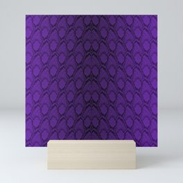 Purple and Black Python Snake Skin Mini Art Print