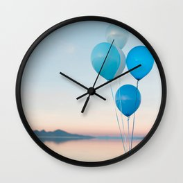 Bonneville Salt Flats Wall Clock
