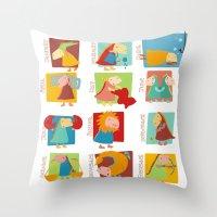 zodiac Throw Pillows featuring Zodiac by Loezelot