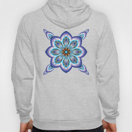 Fantasy flower in purple and blue Hoody