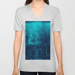 Sea Turquoise Paper Unisex V-Neck