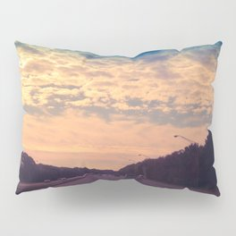 Sunset on the Highway Pillow Sham