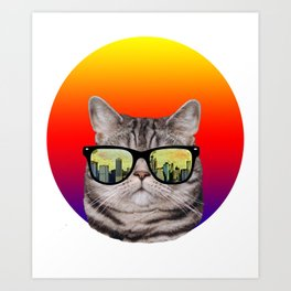 funny cat gifts/i love cats/music gift Art Print