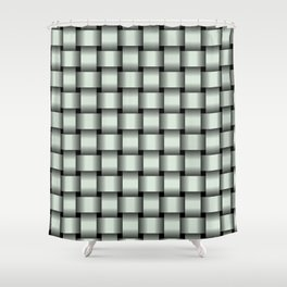 Pastel Green Weave Shower Curtain
