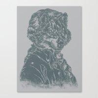 mozart Canvas Prints featuring Wolf Amadeus Mozart by Joshua Kemble