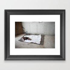 My baby's bed Framed Art Print