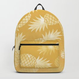 Hawaii Gold Pineapple Pattern Backpack