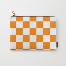 Checkered - White and Orange Carry-All Pouch