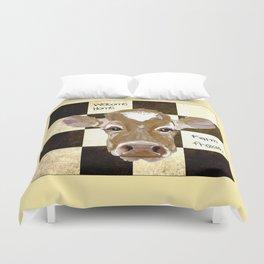 Farmhouse Cow, Welcome Home Farm Fresh Duvet Cover