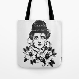 WOMAN and Roses - TATTOO Tote Bag
