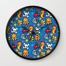 Sea pattern 01 Wall Clock