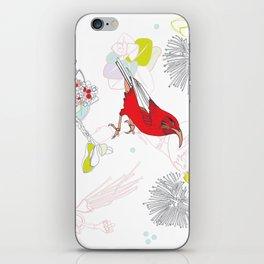 Red Ohia Lehua and Iwi Bird iPhone Skin