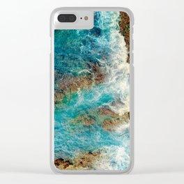 Rocky Beach No1 Clear iPhone Case