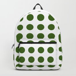 Simply Polka Dots in Jungle Green Backpack