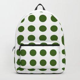 Simply Polka Dots in Jungle Green Backpack