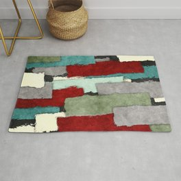 Colorful Patches Abstract Rug
