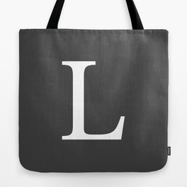 Very Dark Gray Basic Monogram L Tote Bag