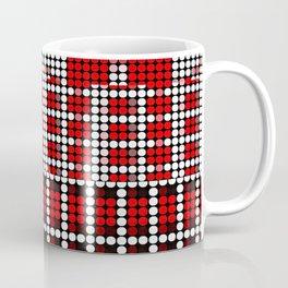 Pixel mosaic,red Coffee Mug