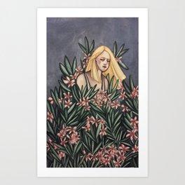 Nerium Oleander Art Print