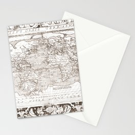 World map wall art 1603 dorm decor mappemonde Stationery Cards