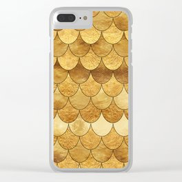 Golden Scales Clear iPhone Case