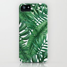 Palm Leaf Tropical Pattern iPhone Case