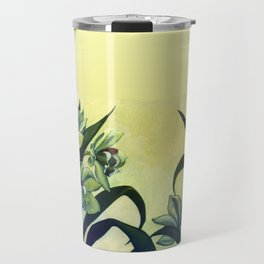 Green Orchids Triptych Travel Mug