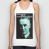 fitzgerald Tank Tops featuring Francis Scott Fitzgerald by Guido prussia